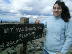 Julien Aklei on Mount Washington Summit
