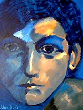 Lyndsey Buckingham in blue