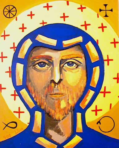 Omega Saint with crosses and gold