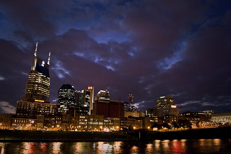 Downtown Nashville Night Skyline 2008