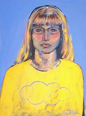Hope Morgan in yellow cloud shirt