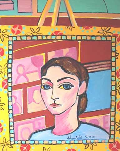 Fiesta self-portrait. Julien in studio.
